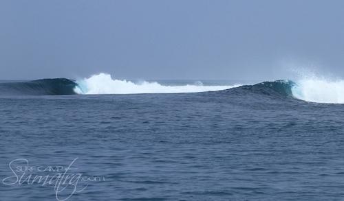 Shhhhh (Middle) surf break Sumatra