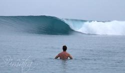 Shadow Right surf break Sumatra