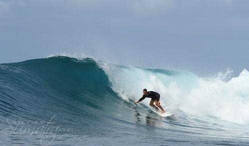 Ceweks (South) surf break Sumatra