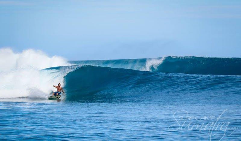 Telescopes surf break Sumatra