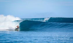 Telescopes surf break Sumatra