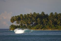 Karambat Left surf break Sumatra
