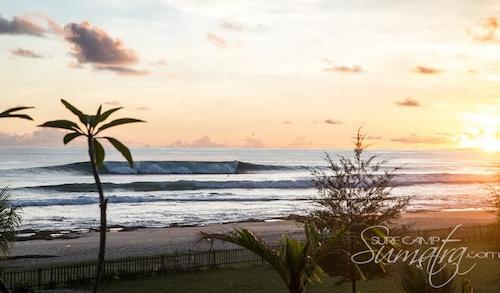 The Peak surf break Sumatra