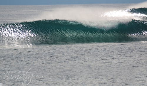 Gunters surf break Sumatra