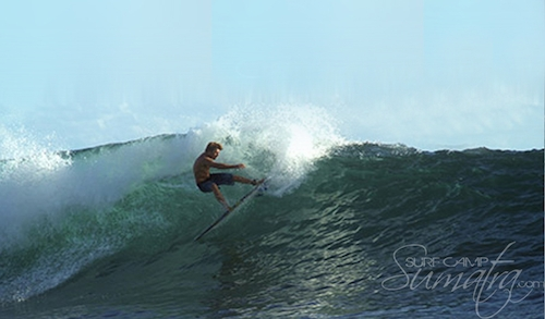 Silabu Left surf break Sumatra
