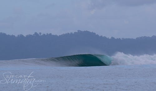Shortys surf break Sumatra
