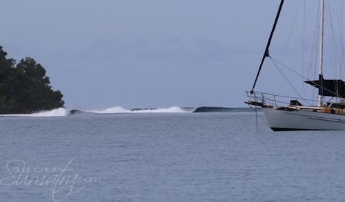 Lolok Point surf break Sumatra
