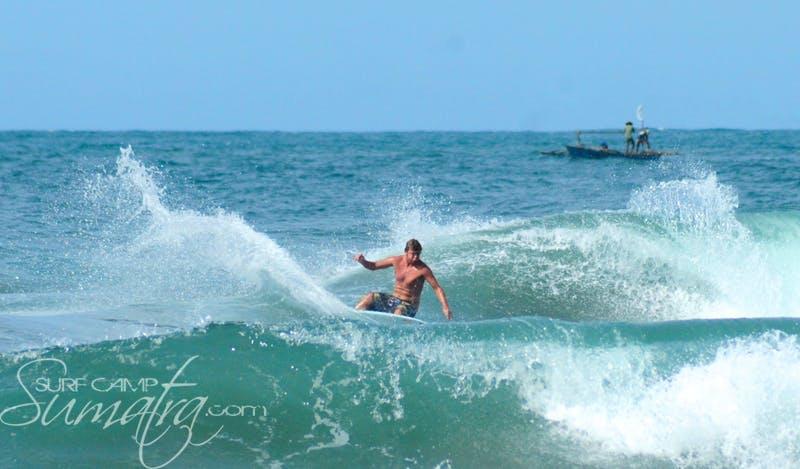 Mandiri Beach surf break Sumatra