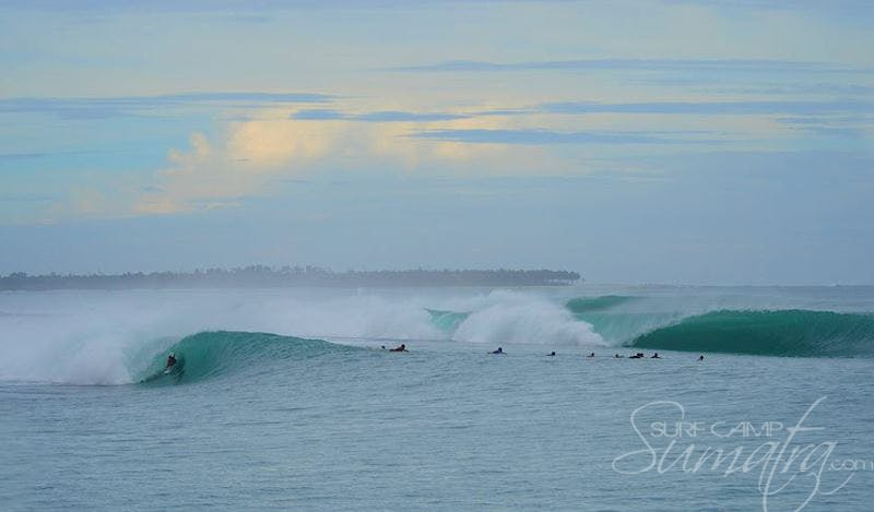 Macaronis surf break Sumatra