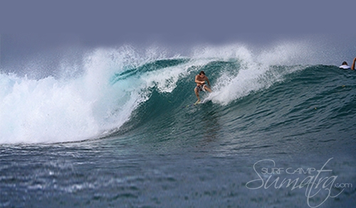 Thunders surf break Sumatra