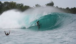 Green Bush surf break Sumatra