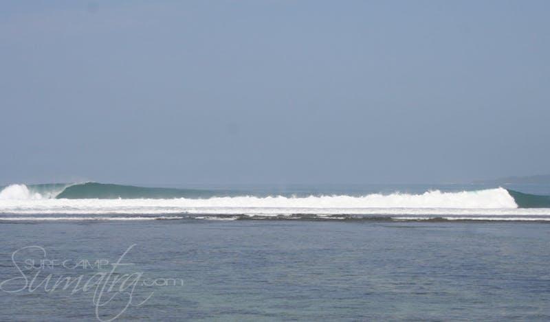 Jimmys Left surf break Sumatra