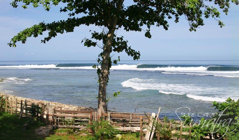 Ujung Bocur surf break Sumatra