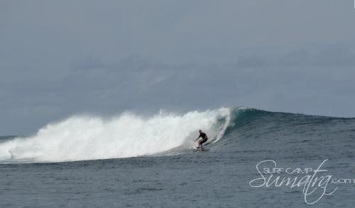 Dylan's Left surf break Sumatra