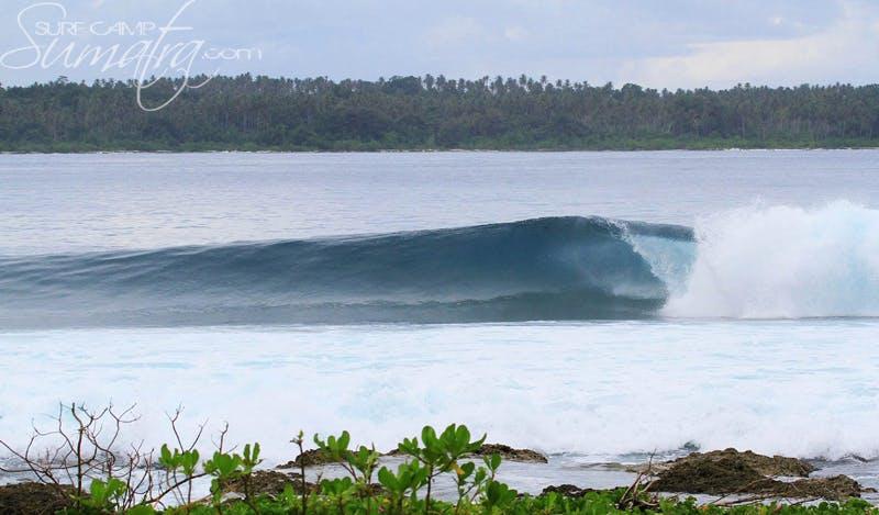 Dylan's Right surf break Sumatra