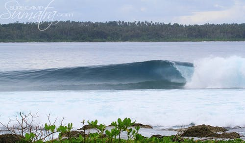Dylan's Right surf break Sumatra