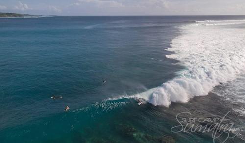 Backyards surf break Sumatra