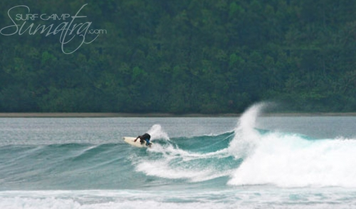 Bat Cave surf break Sumatra