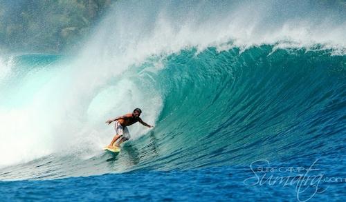 Lado Lado (South) surf break Sumatra