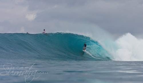 Rifles surf break Sumatra