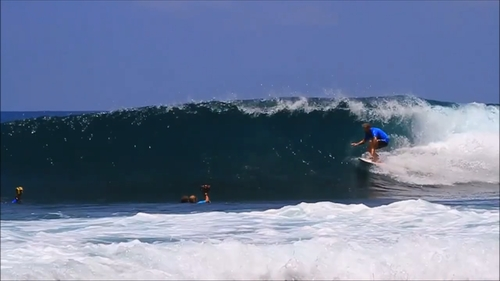 The Clit surf break Sumatra