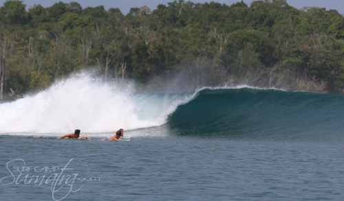Toytown Lefts surf break Sumatra