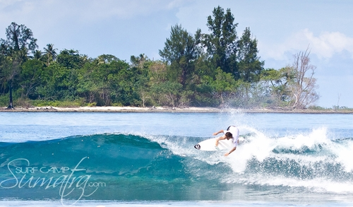 Roxies surf break Sumatra