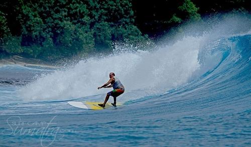 Mibis (South) surf break Sumatra