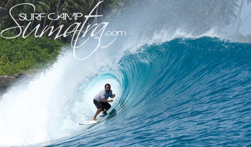 Hamutala surf break Sumatra