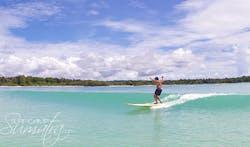 Thunders surf break Sumatra