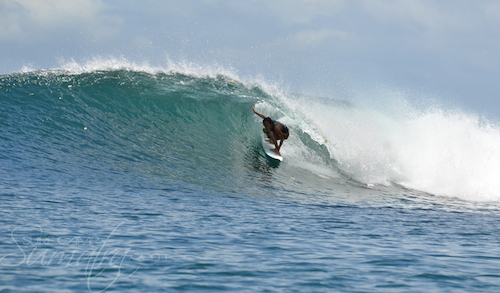 Four Bobs surf break Sumatra