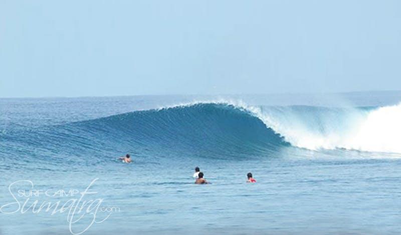 Rags Right surf break Sumatra