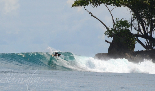 Burger World surf break Sumatra