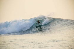 Hookers surf break Sumatra