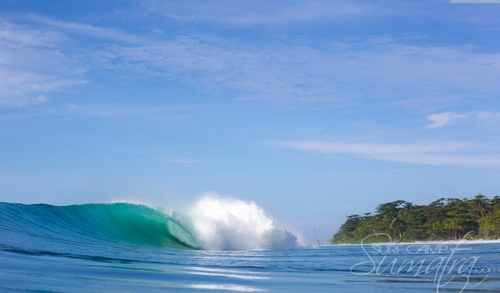 Unicorns surf break Sumatra