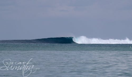 Macas Right surf break Sumatra