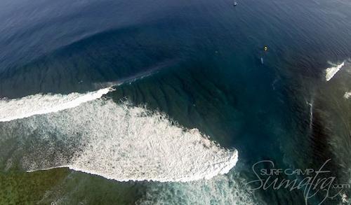 7 palm point surf break Sumatra