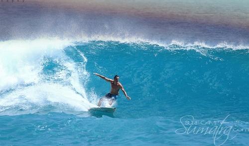 Baga (South) surf break Sumatra