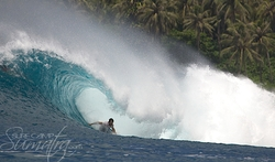 Rags Right surf break Sumatra