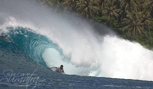 Thunderbox surf break Sumatra