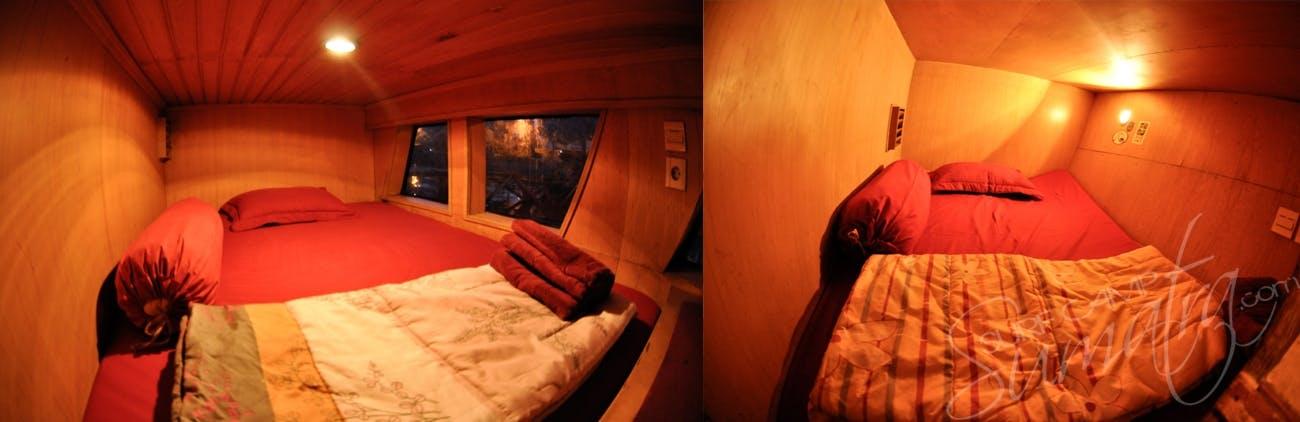 Private ac cabins aboard the Aileoita