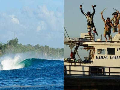 On location in the Mentawai islands