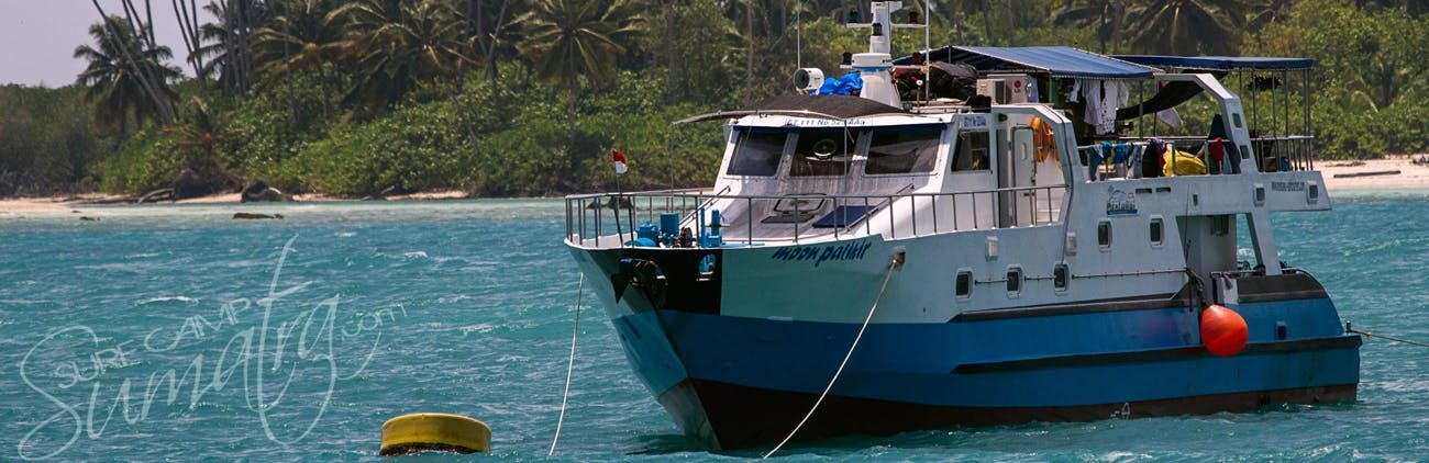 Parked up in the Mentawais