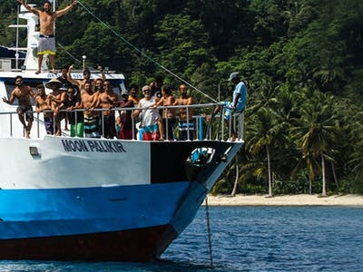One of the bigger boats in the mentawai islands