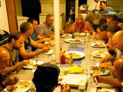 Dinner aboard the Addiction