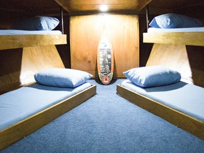 1 large four bed cabin and 4 x twin bed cabins