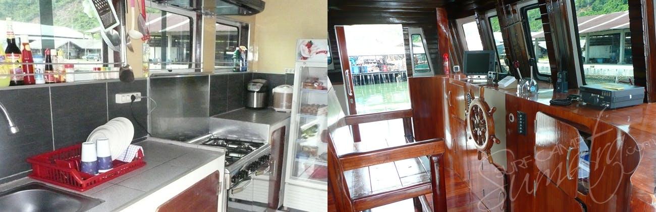 Kitchen and the captains bridge
