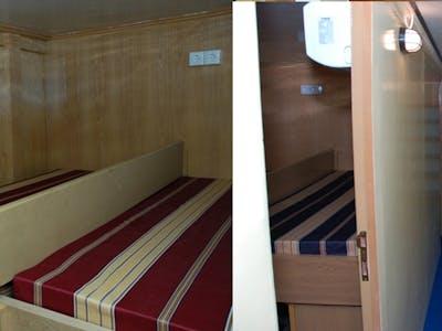 6 private cabins