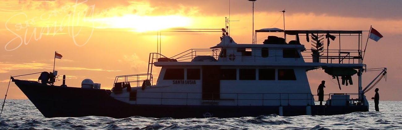 Sunset aboard the Santa Lusia