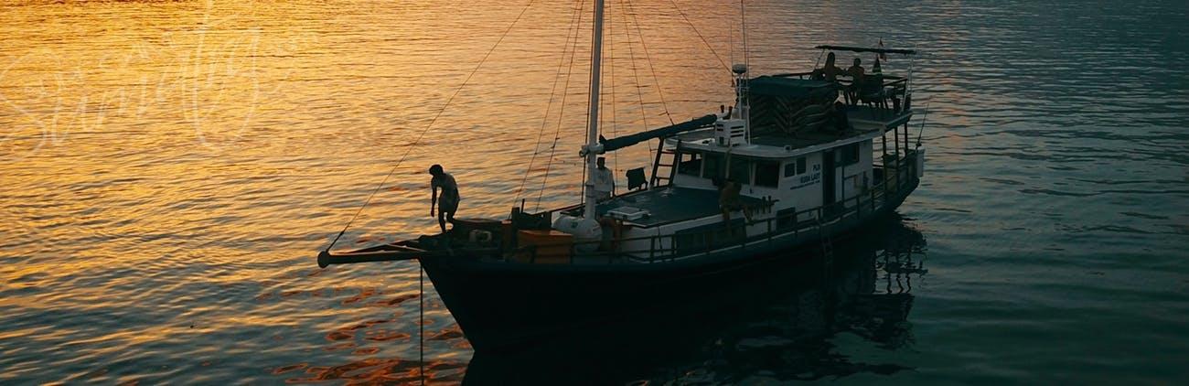 Dusk aboard the Kuda Laut